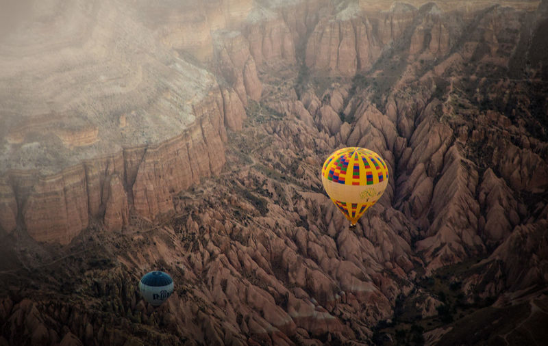 Adventure Day Flying Hot Air Balloon Mid-air Mountain Nature No People Outdoors