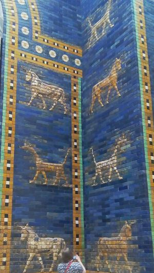Gate Of Babylon Museum Beautiful ♥ Architecture Stone Wall Colorful An Animal's Perspective