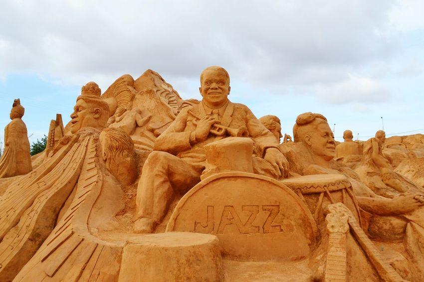 Sand Sand Sculpture Park Sculpture Sand Sculptures Sand Sculpture Art Imagination Fantasy No People