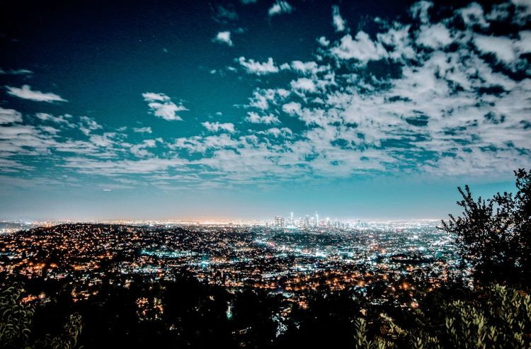 Sky Night Cloud - Sky No People Scenics Cityscape Milky Way City California Travel Destinations Color Moon Blue Sea Water Aerial View Nature Outdoors Beauty In Nature Beach Sunset Tree Luminosity