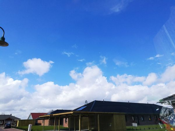 Sky Blue Cloud - Sky Built Structure Outdoors No People Day Nature Heavenly Sky Schleswig-Holstein Deutschland Germany Nature Wolkenhimmel Beauty In Nature Wolken Huaweip9photos