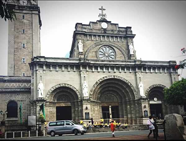 Manila Cathedral. Architecture Tall - High Travel Destinations Church Group Of People Philippines Tourism