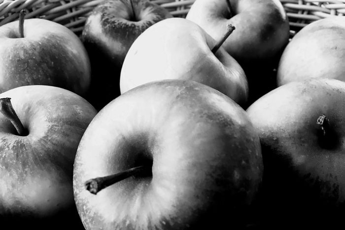 Check This Out Basket Filled With Apple's Apple Blackandwhite B&w Photography Fruit