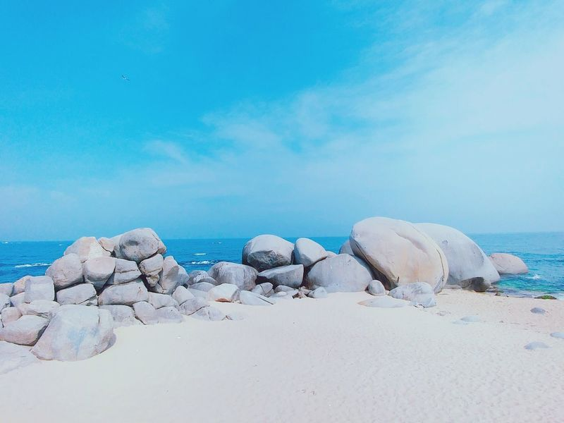 Nature Photography Trip Korea Trip Springtime Spring No People Day Nature Sky Outdoors Lgg6 Vacations Horizon Over Water Sea Beach Hsun Sand & Sea Blue Water Clear Sky Backgrounds Nice View Nice Weather Phone Camera at Sokcho Connected By Travel