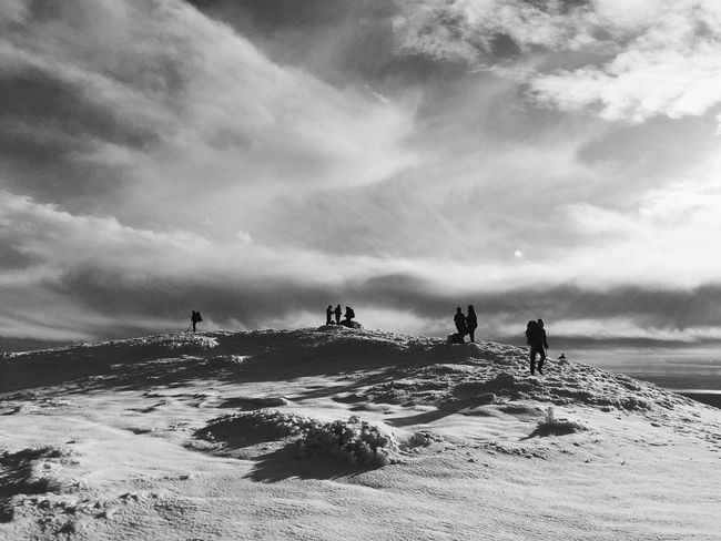 Vaganski vrh, highest peak of Velebit mountain at an altitude of 1757 meters, Croatia, Nov 19, 2017. Vaganski Vrh Velebit Velebit Mountain Peak Summit Snow Hiking Leisure Activity Beauty In Nature Scenics Silhouette Shadows Outdoors