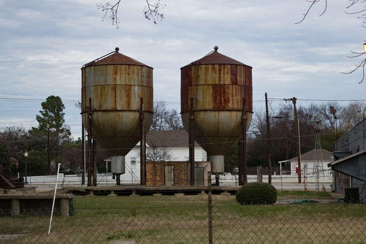 Grain Elevator Industrial Abandoned Architecture Metal No People Rusty Storage Tank Water Tower - Storage Tank