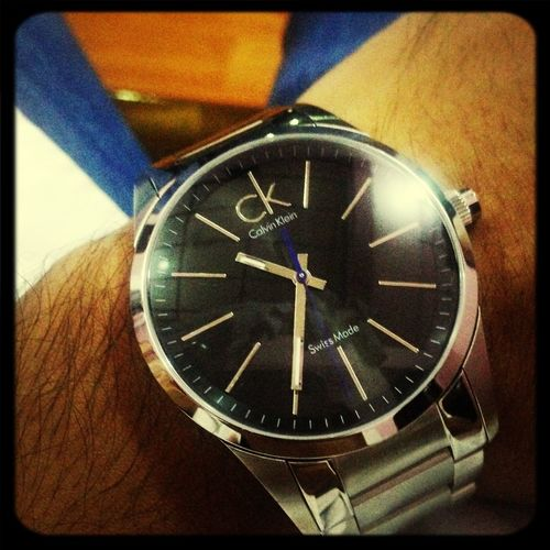 My new watch. Lets hope I go to places on time hereafter ?