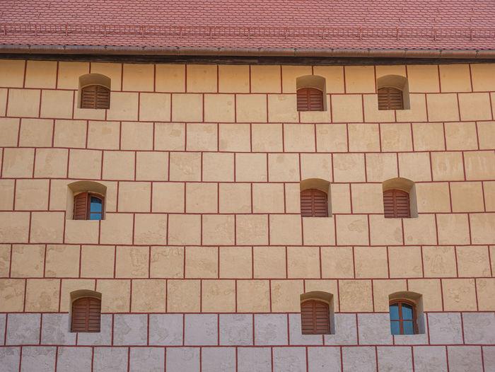 Full frame shot of brick wall of building
