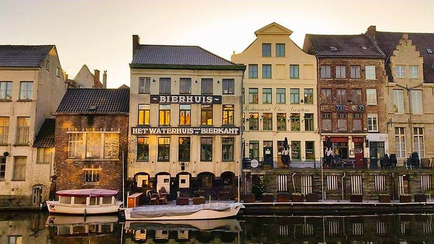 Ghent Canal Ghent,Belgium Architecture No People Building Exterior Water Travel