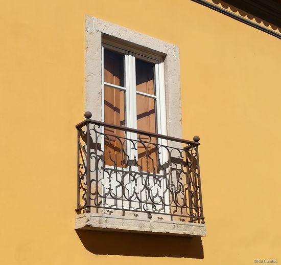 Low angle view of building window