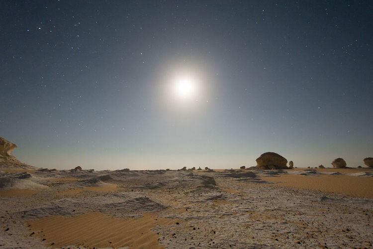 Moon at 00:00 am ,White desert , Egypt Mars Moon Alien Landscape Another World Arid Climate Astronomy Beauty In Nature Clear Sky Desert Landscape Martian  Moon Nature Night No People Outdoors Outspace Physical Geography Planet Rock - Object Scenics Sky Stars Tranquil Scene Tranquility