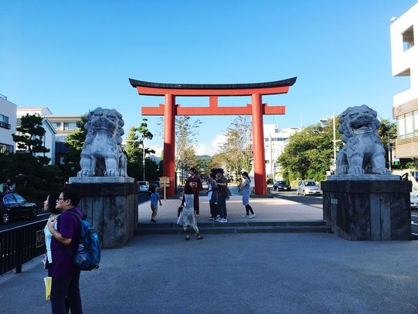 TORII Japanese Culture Japan Photography People Photography Sky Taking Photos