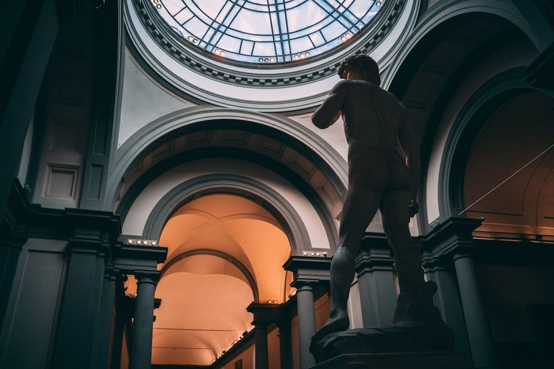 EyeEm Selects David of Michelangelo, Florence Architecture Indoors  Dome Low Angle View Government Built Structure One Person Day Politics And Government People EyeEm Best Shots Architecture David An Eye For Travel