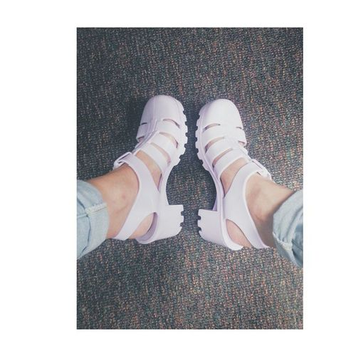My ugly Juju Jellyshoes I love so much. Americanapparel Shoes