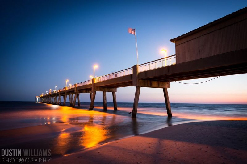 The Pier down in Okaloosa Island, FL. What do you think? Pier Florida Sunset