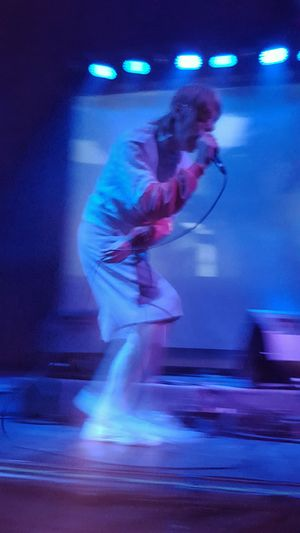 Momus @ Caixa Económica Operária, Lisboa, 2016 Blue Blurred Motion Caixa Economica Opera Casual Clothing City Life Enjoyment Full Length Fun Illuminated Leisure Activity Lifestyles Lisbon Live Music Momus Motion Nicholas Currie Night Nightlife Performance Skill