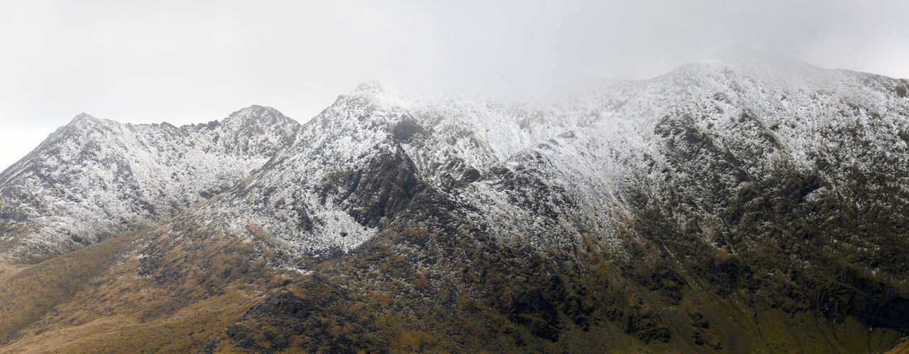 Cold Temperature Landscape Macgillycuddy's Reeks Mountain Mountain Range Outdoors Physical Geography Sandstone Ridge Snow
