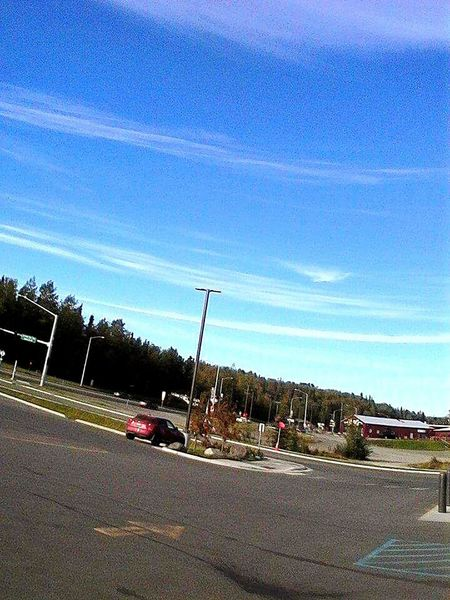 Street Photography my view o driving through a car window in Soldotna Road Sky Blue No People Day Land Vehicle Clear Sky Tree Nature