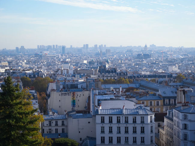 Paris panoramic view from Montmartre Building Exterior Architecture Built Structure City Building Cityscape Residential District Nature Sky High Angle View Outdoors Day Montmartre Paris Paris, France  Paris Panorama Paris Panoramic View Cityscape Travel Destinations Paris Roofs Paris Rooftops Rooftop