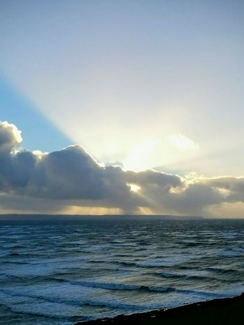 Sea Sky Horizon Over Water Cloud - Sky Stormy Weather Woolacombe, Devon Landscape Photography Seascape, Sunshine Clouds