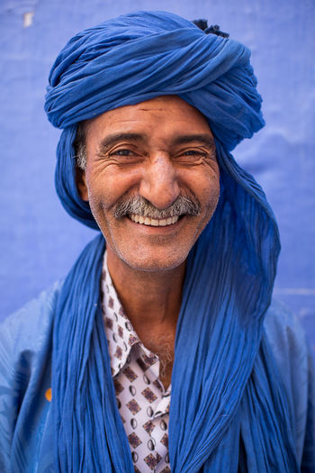 Ali, jewelry dealer in Chefchouen, Morocco, North Africa. Maghreb Morocco Blue Pearl Chefchaouen Portrait Blue Africa Morocco_travel MoroccoTrip Chefchouen