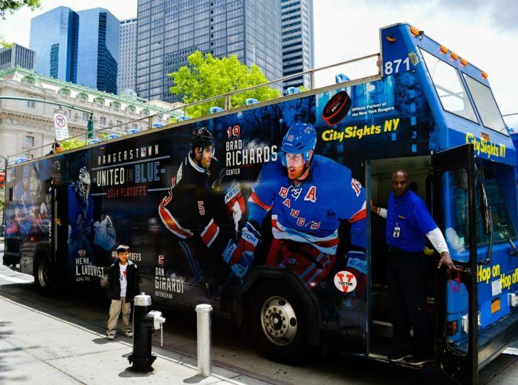 On The Move NY Rangers Citysights Bus Tour