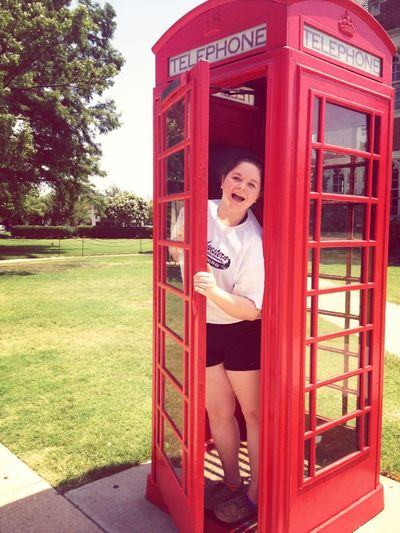 TELEPHONE BOOTH. 'NOUGH SAID.