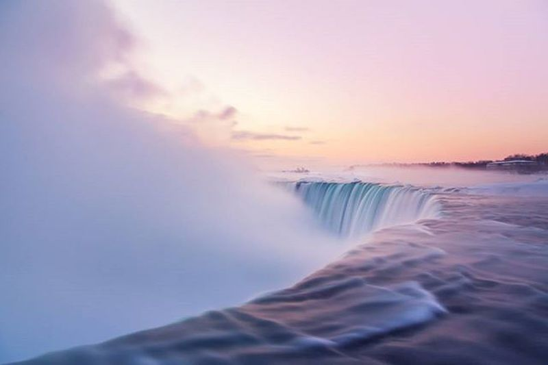 Its Roar Awoke the Sun II Landscape Niagarafalls Longexposure Sunrise Niagara Mightyniagara Water POTD Photooftheday Waterfall