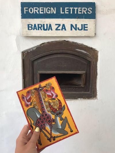Postcard from Africa Postcards Zanzibar Tanzania Africa Travel Hand