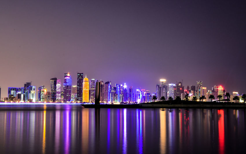 A long exposure shot of Westbay Area in Al Corniche, Doha -Qatar #corniche #doha #longexposure #Night #qatar #urbanscape #sunset #sun #clouds #skylovers #sky #nature #beautifulinnature #naturalbeauty #photography #landscape #nightphotography First Eyeem Photo My Best Photo