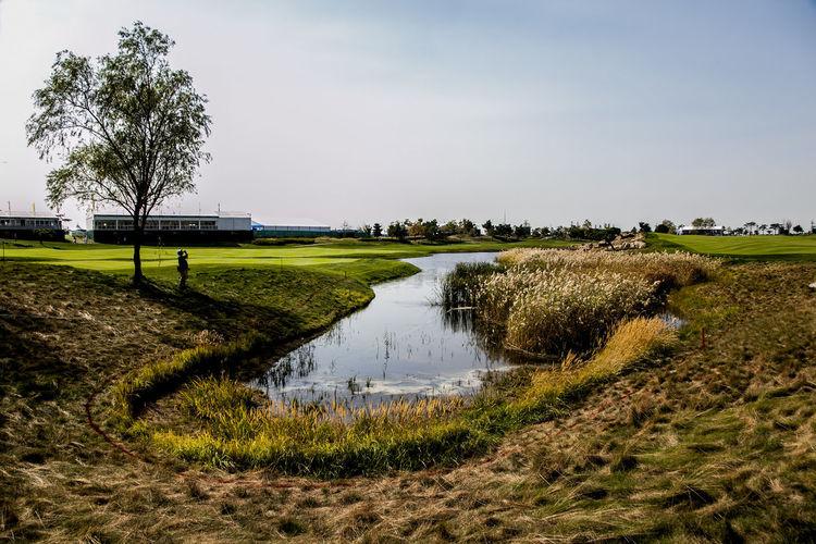Golf Course Against Sky