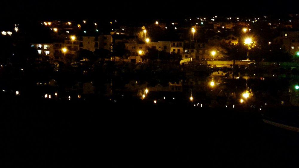 Harbour Night Lights In The Water stillnes