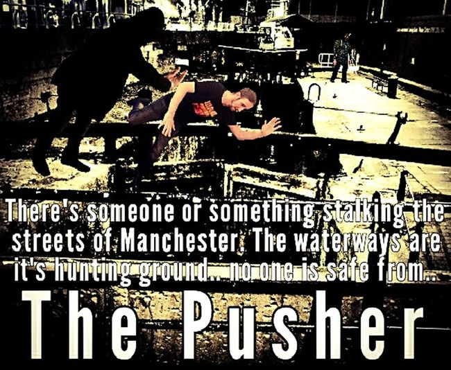 "A new dimension in terror. The urban nightmare is here.. welcome to the world of ""The Pusher"". The Pusher Canal Murder Serial Killer Urban Street Psychopathy Manchester"