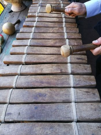 Day Human Body Part Human Hand Lifestyles Men Music One Person Outdoors People Percussion Percussion Instrument Real People Xylophone