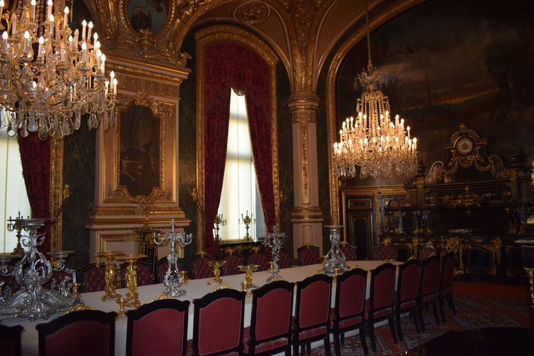 Religion Statue Indoors  Architecture Travel Destinations Day Paris, France  Lourve LourveMuseum Travel Inspired Cultures Table Chair Dinner Room Arts Culture And Entertainment Art Old Napolian Detail Texture King - Royal Person Castle Monument