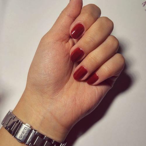 Gelnails Red Human Body Part Nail Polish Beauty Close-up Fingernail Indoors  Manicurednails Red Human Hand