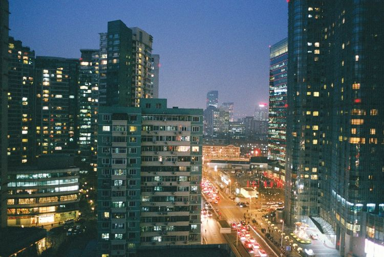 北京 國貿 夜景 国贸 北京 Bingjing Bingjing Built Structure Street Building Night City Life City Street First Eyeem Photo