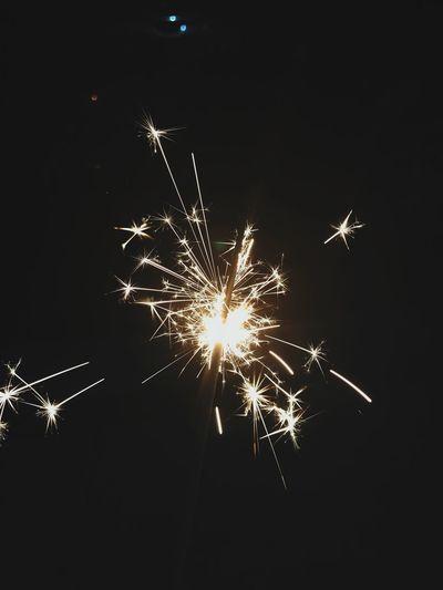 Sparkles Night Illuminated Celebration Firework Arts Culture And Entertainment Glowing Motion
