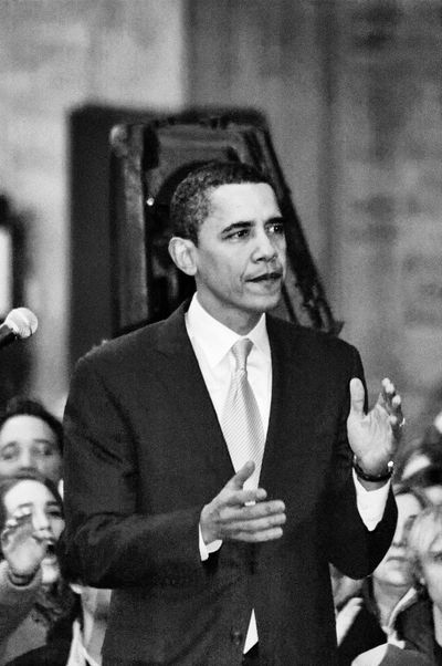 Barack Obama Black & White Obama Obama 2008 Speech Adult Barackobama Black And White Black And White Photography Black&white Blackandwhite Blackandwhite Photography Blackandwhitephotography Campaign Rally Campaign Speech Day Front View Indoors  Lifestyles Men One Person People Presidential Campaign 2008 Presidential Election Real People Street Photography Streetphotography Stump Speech Suit Well-dressed Young Adult