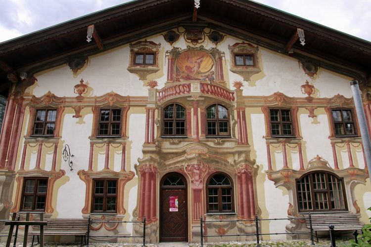 Oberammergau GERMANY🇩🇪DEUTSCHERLAND@ Bayern Bavaria Painted Wall Fables Architecture European  Passions Spiele Nature Alps German Alps