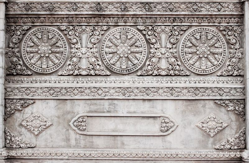 Close-up of ornate wall