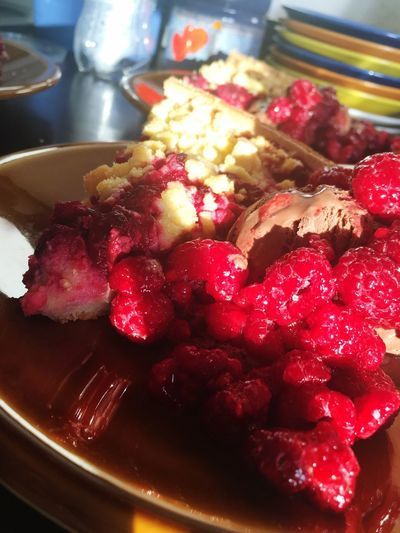 Cranberry Ice Cream Pie Food And Drink Food Freshness Indoors  Still Life Serving Size Ready-to-eat Temptation Fruit Meal Plate Berry Fruit