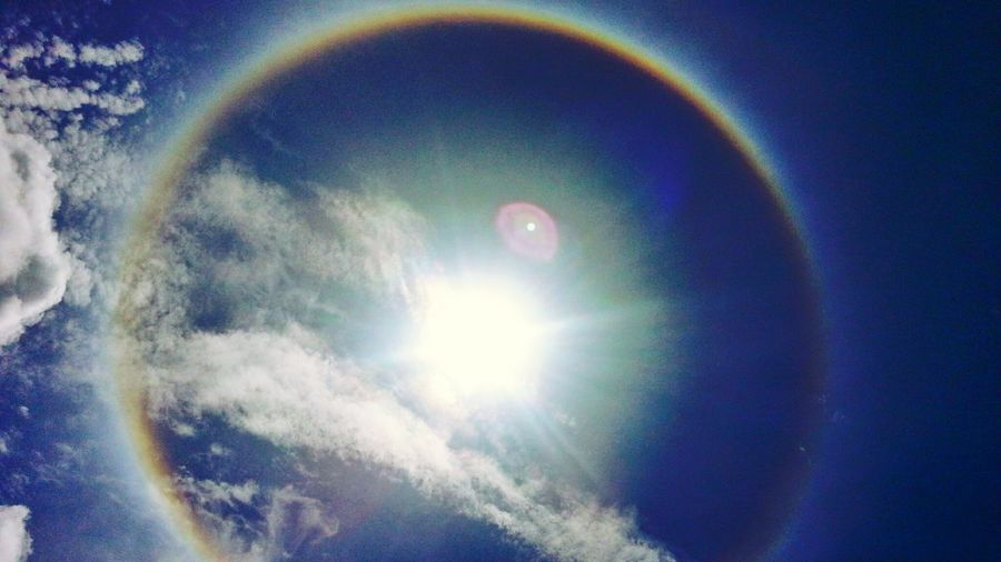 พระอาทิตย์ทรงกลด Sun halos Sun ☀ Sun Halo Sky And Clouds Sky And City
