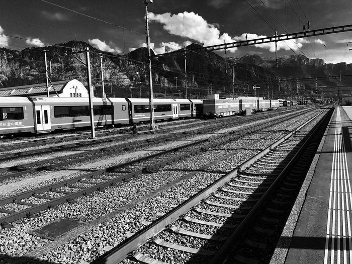 Rail Transportation Switzerland Landquart No People Swiss