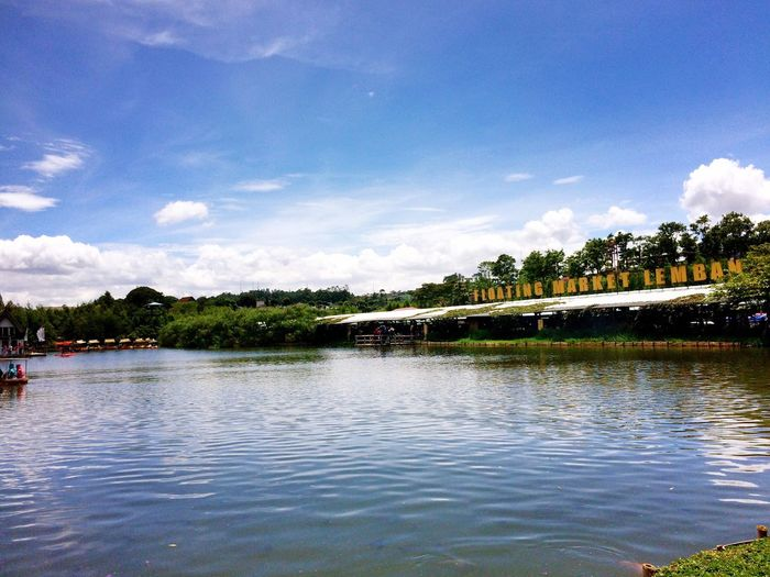 Water Sky Cloud - Sky Architecture Built Structure Waterfront Tree Day Outdoors Lake Nature No People Desyshakira Raker Floatingmarket Bandung 2016 Iphone5s Photography Nature Mountain INDONESIA Nice Day Travel Destinations One Animal