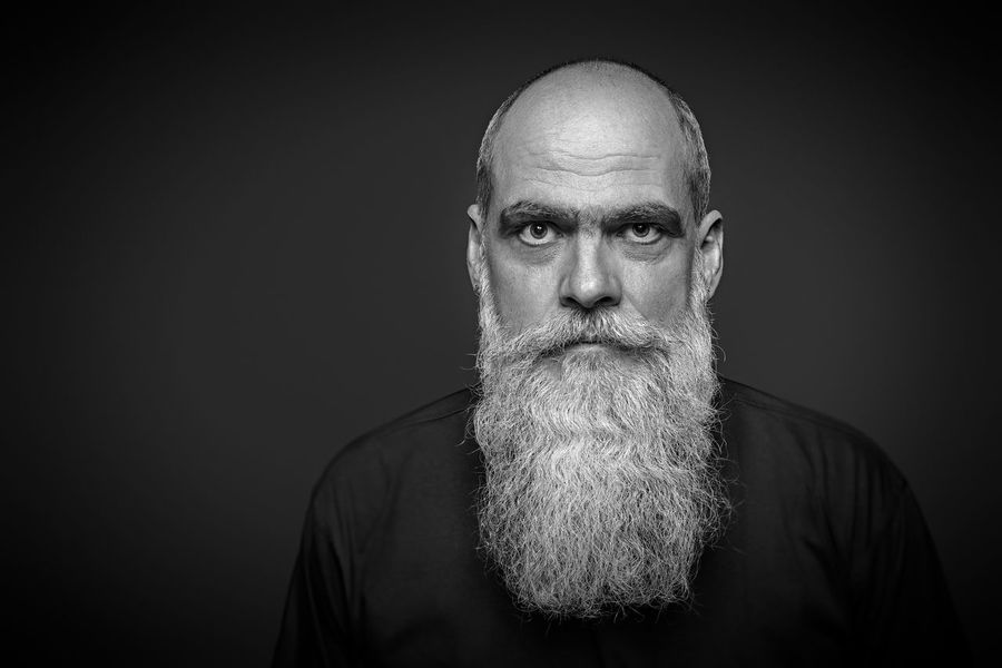 long bearded male portrait Portraits Adult Adults Only Balding Beard Black Background Completely Bald Long Looking At Camera Males  Masculinity Men One Man Only One Person One Senior Man Only Only Men People Portrait Senior Adult Senior Men Studio Shot