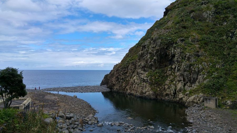 Madeira Island Portugal São Jorge Nature Sea And Sky Tranquility Landscape Beauty In Nature Santana Madeira Beach Urban Skyline