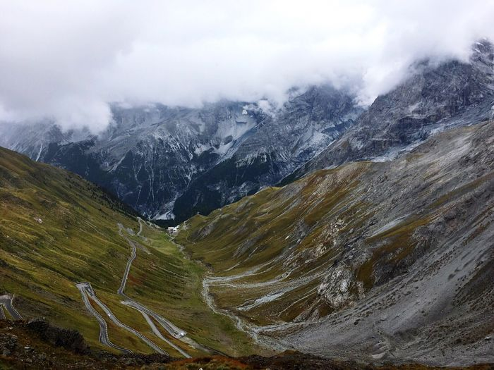 Stelvio Pass, Italy Mountain Snowcapped Mountain Stelviopass Snow Italy Stelvio Travel Roadtrip Road Travel Destinations Travelphotography Outdoors No People Nature Tranquility Clouds