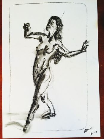 10 min gestural. Not liking this but part of the process I suppose. Art, Drawing, Creativity Art drawing