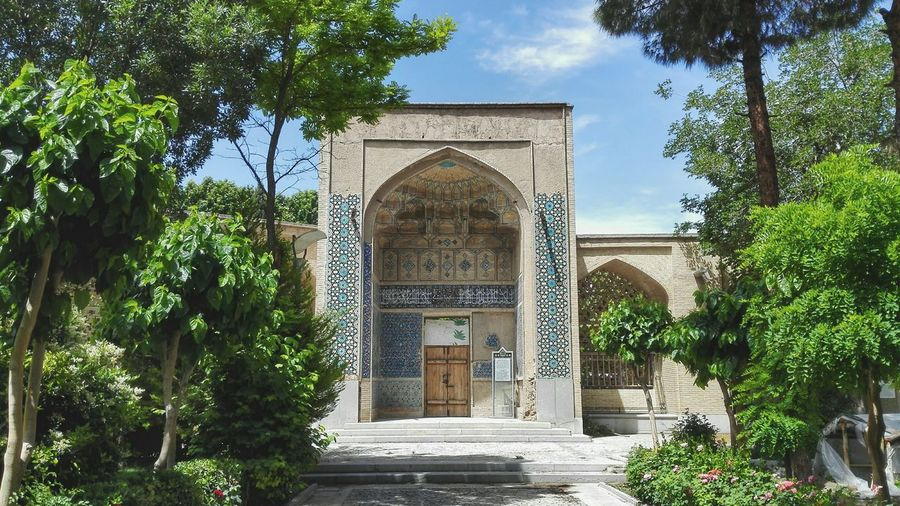 Architecture Built Structure Tree Door Façade Travel Destinations Day Building Exterior Outdoors Iran Isfahan Persian Travel History City Architecture Irantravel Palace